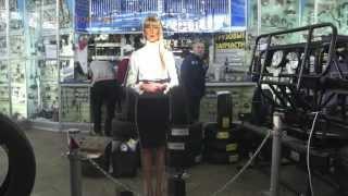 Виртуальный промоутер производства компании «Гефест Проекция» - «Интерлакокраска-2012»