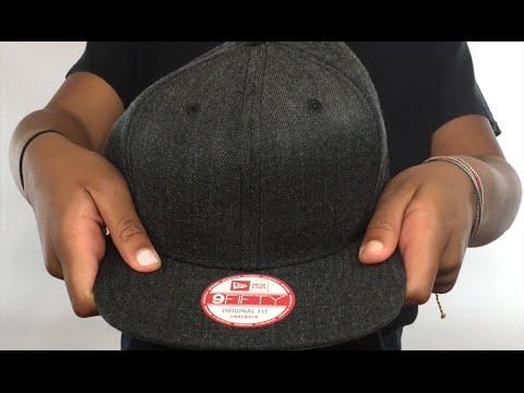 f9095734409 New Era  BLANK SNAPBACK  Heather Black Adjustable Hat - YouTube