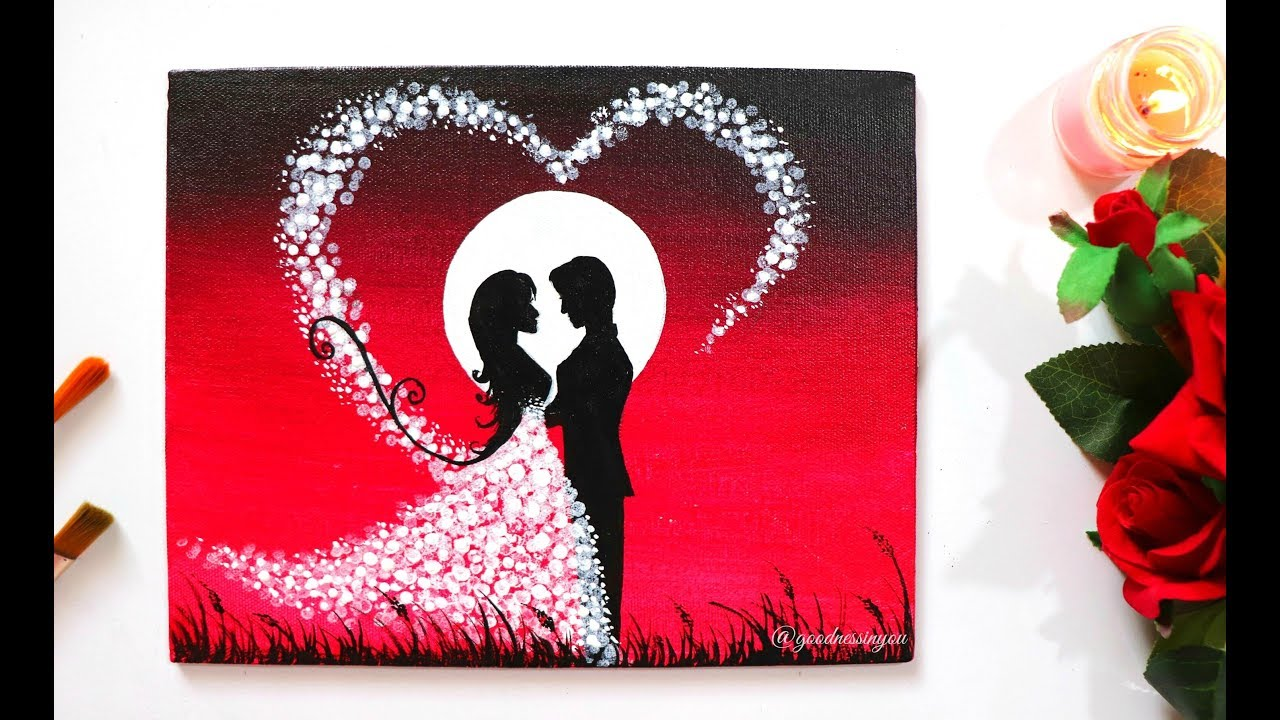 A Romantic Couple Painting using Easy Trick + GIVEAWAY for ...