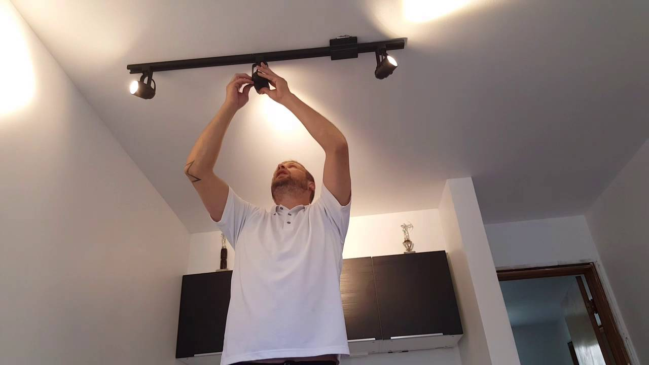 Converting track lighting to led lights youtube mozeypictures Choice Image