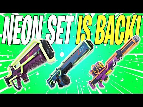 NEON SET NOW AVAILABLE IN THE COLLECTION BOOK! Bonus 👏  News 👏 | Fortnite Save The World News