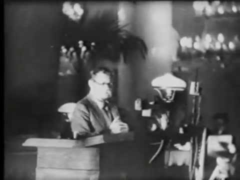 Gorky Speaks at the Writers' Congress (1934)
