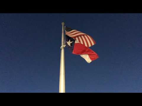 American flag and Texas flag flapping in the wind - Free Download