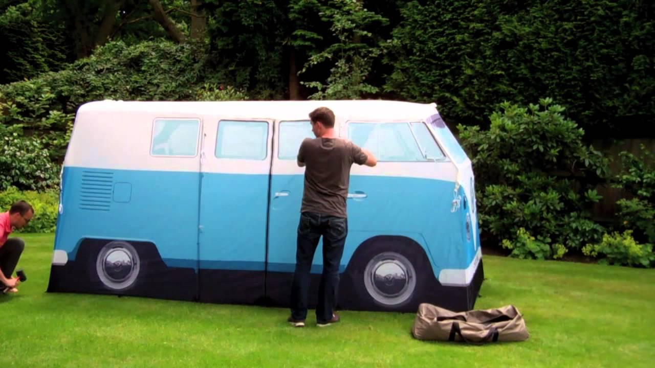 Vw T1 Camper Van Tent Set Up Youtube