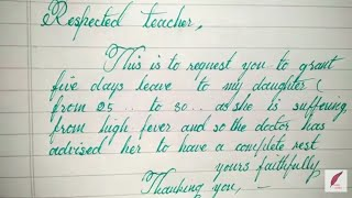 How to write leave application to teacher from parents