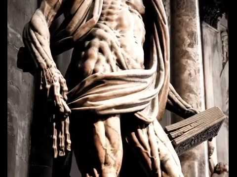 Milan Cathedral: the statue of St. Bartholomew