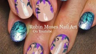 Nail Art Tutorial | Diy Lavender Flower Nails | Summer Filigree Nail Design