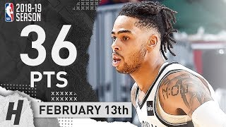 D'Angelo Russell NASTY Full Highlights Nets vs Cavaliers 2019.02.13 - 36 Points, 8 Ast, CLUTCH