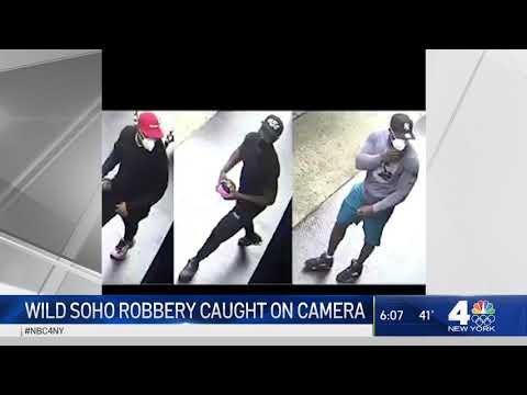 Wild Robbery at SoHo Chanel Store Caught on Camera | NBC New York