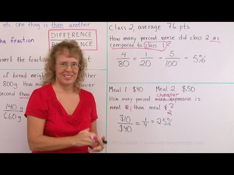 Relative difference or percentage difference - comparing values using a percentage