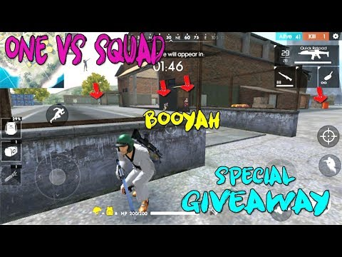 FREE FIRE SOLO VS SQUADS GAME PLAY TELUGU | FREE FIRE TIPS AND TRICKS | SPECIAL GIVEAWAY | BOOYAH