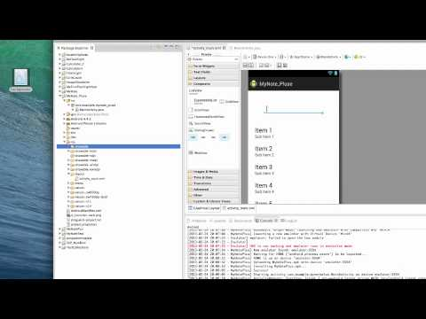 MyNote Plus (Google Android) Development Tutorial