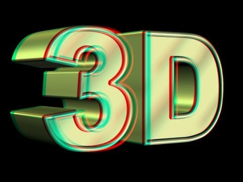 3D VIDEO 1 red and blue cyan glasses