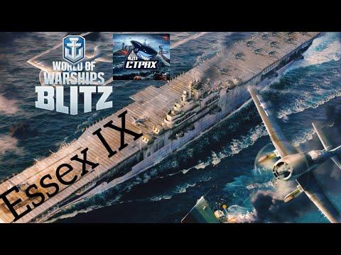 WOWS BLITZ ФЛОТ СТРАХ: Essex IX