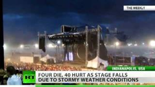 Moment of Indiana State Fair stage collapse caught on camera