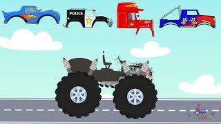 Street vehicles for children | What head? Trucks and Excavator  #Ciężarówki i koparki bajki