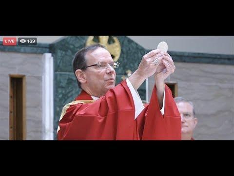 Bishop Burbidge celebrates first public Mass since mid-March