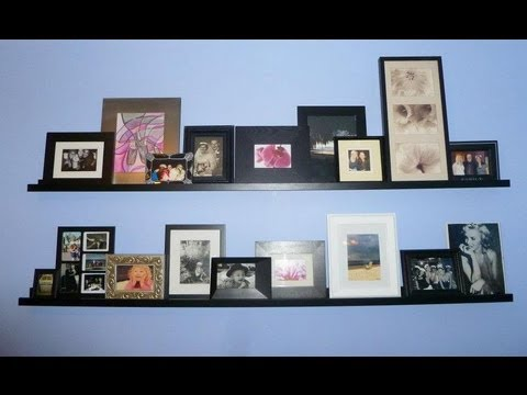 how to stage picture ledge shelf youtube. Black Bedroom Furniture Sets. Home Design Ideas