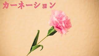 How to make an origami art. 使用している材料: 花:薄手の和紙(雲竜...