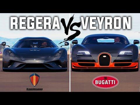 Bugatti VEYRON vs Koenigsegg REGERA | Forza Horizon 3