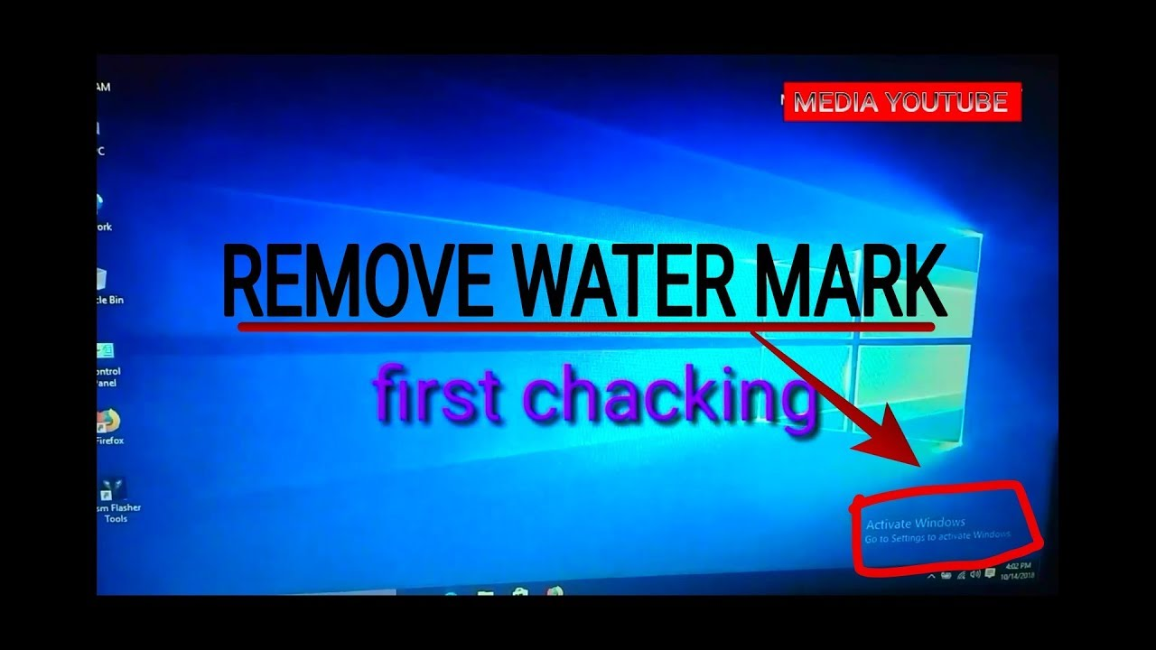 how to remove windows 10 watermark activate windows go to setting to activate windows text from pc