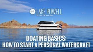 PWC basics: How to start a personal watercraft