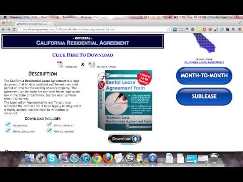 California Residential Lease Agreement