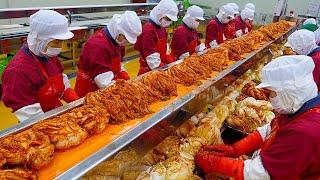 Удивительный корейский завод по массовому производству кимчи / пищевой завод
