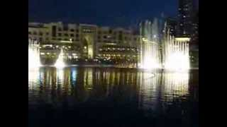 Dancing fountains of Dubai