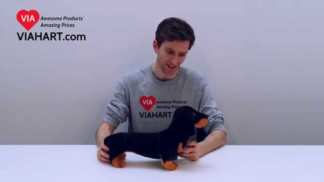 Viahart 18 Inch Dachshund Dog Stuffed Animal Plush Dieter The