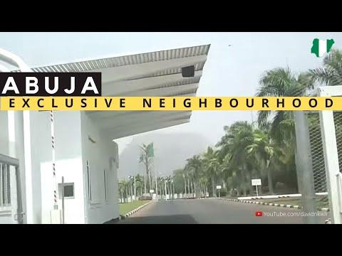 Abuja drive {Beautiful Street View of Asokoro district}