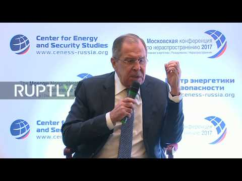 LIVE: Lavrov gives speech at 2017 Moscow Nonproliferation Conference