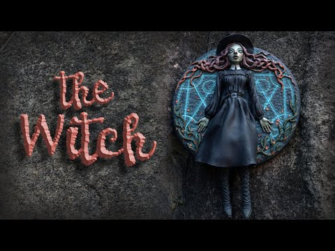How I Create this Witch with Moving Legs using Polymer Clay | time-lapse