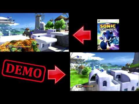 Sonic Unleashed XBOX 360 DEMO Vs Final Release Comparison