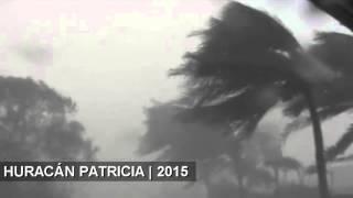 Huracan patricia Toca tierra.Fueza Mexico