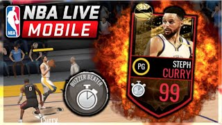 NBA LIVE MOBILE | 99 STEPH CURRY REVEAL/GAMEPLAY! BUZZER BEATER ABILITY = 🔥