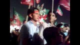 Jazba Junoon by Junoon high passion song at Imran Khan Rawalpindi Jalsa - 27 May 2012