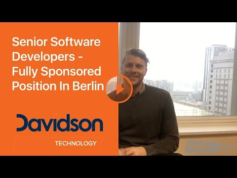 Senior Software Developers - Fully Sponsored Position In Berlin