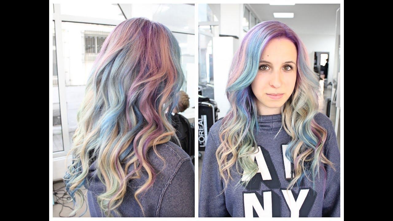Haare In Pastellfarben Regenbogen Haare Unicornhair Krasses