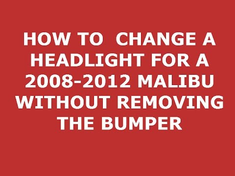 hqdefault how to change 2010 malibu headlight without removing bumper youtube  at creativeand.co