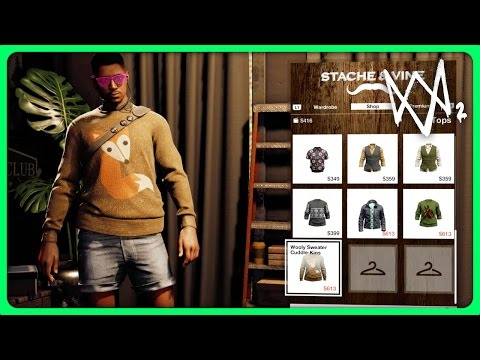 WATCH DOGS 2 - ALL CLOTHES CUSTOMIZATION (Watch Dogs 2 All Clothing Customization Gameplay)