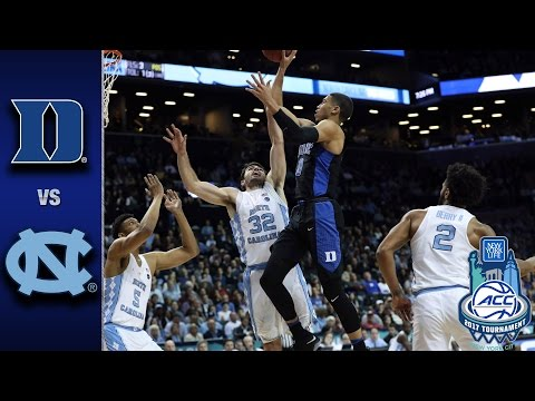 Duke vs. North Carolina 2017 ACC Tournament Highlights