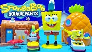 SpongeBob Squarepants Figure Two NEW Mini Playset Nickelodeon SpongeBob Toys Bob Esponja Juguetes
