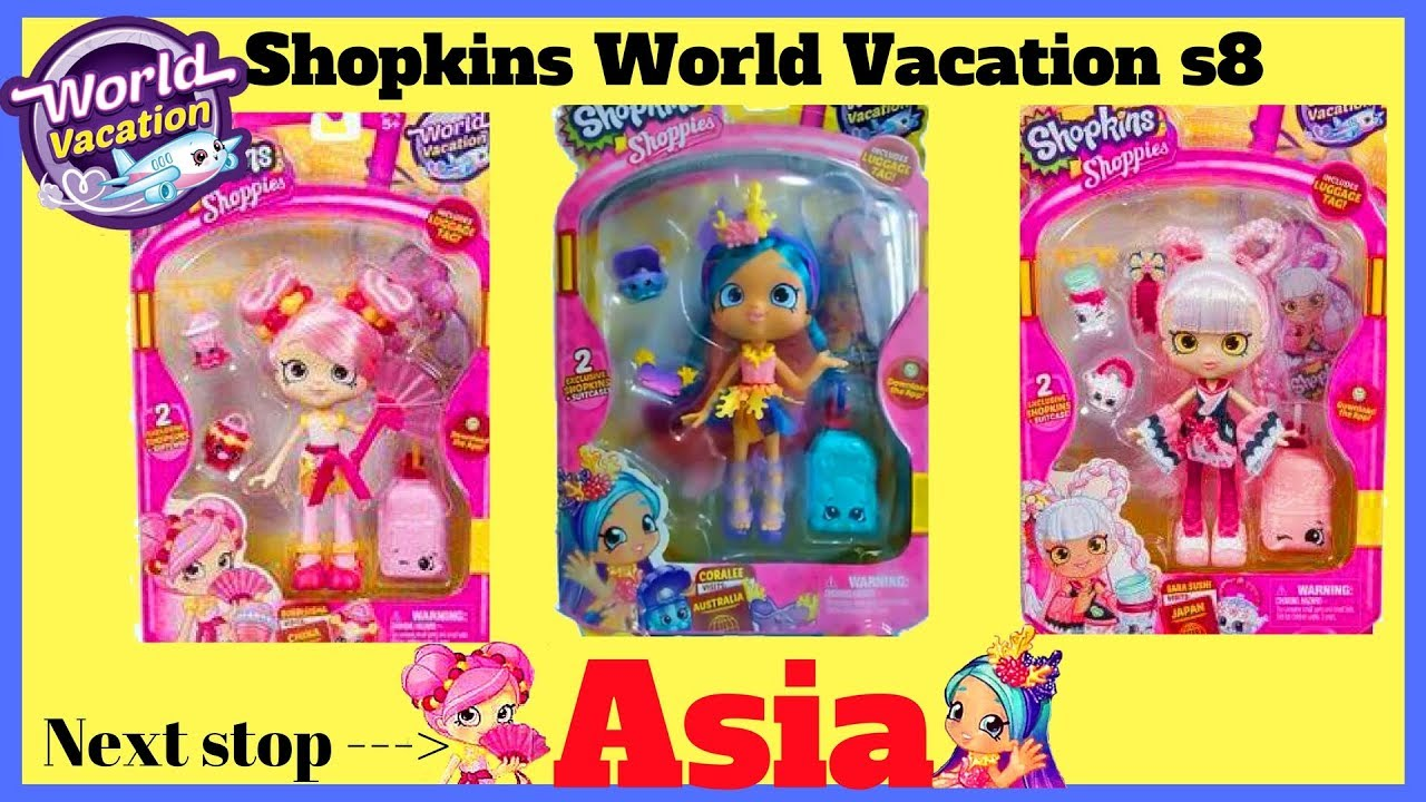 Shopkins Season 8 World Vacation Asia Shoppies Doll Coralee Target By New