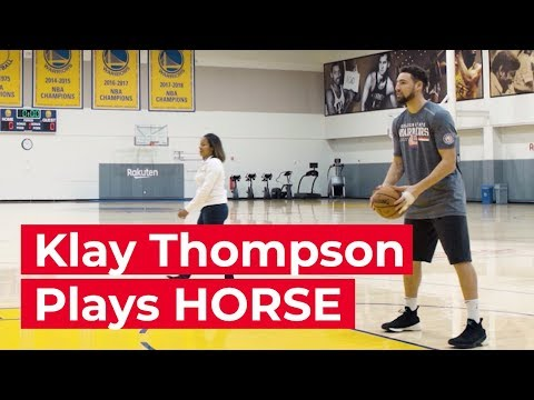 Klay Thompson Plays A Game Of HORSE