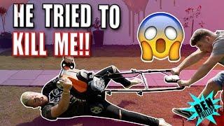 My Bro tried to KILL me **PRANK!**