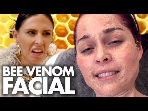 Trying the BEE VENOM Facial?! Beauty Trippin