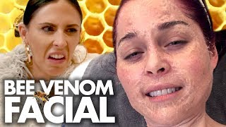 Trying the BEE VENOM Facial?! (Beauty Trippin)