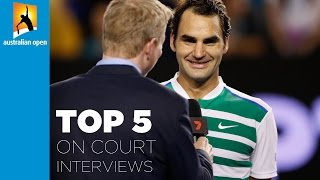 Top 5 on-court interviews | Australian Open 2016