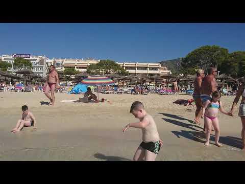 Palma nova beach and coastline , calvia, playa de palma nova mallorca